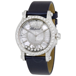 Happy Sport Mother of Pearl Guilloche Dial Ladies Watch