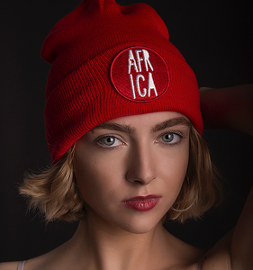 Africa 3D Toque With Pom