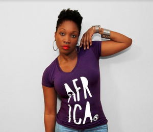 Ladies AFR ICA V- Neck Tshirt
