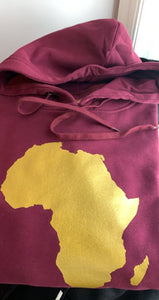 Africa Gold Map Hoodie