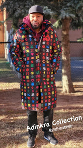 Adinkra Long Coat