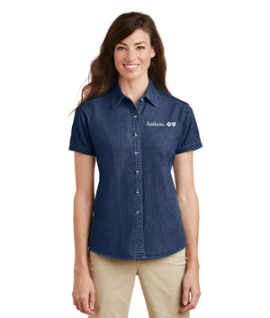 Port & Company® Ladies Short Sleeve Value Denim Shirt