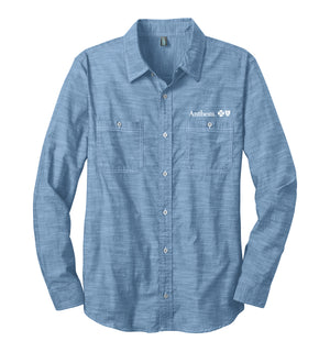 Mens Port Authority Slub Chambray Shirt