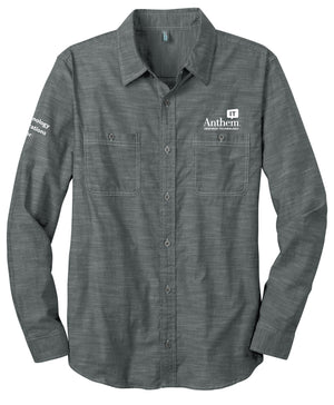 Men's Port Authority Slub Chambray Shirt - TOC