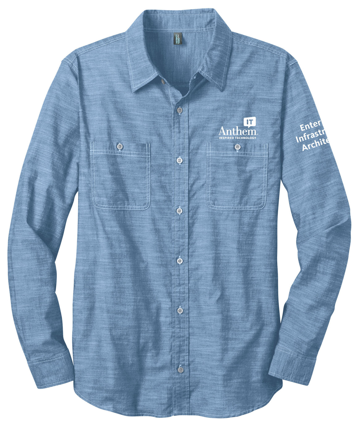 Mens Port Authority Slub Chambray Shirt - EIA