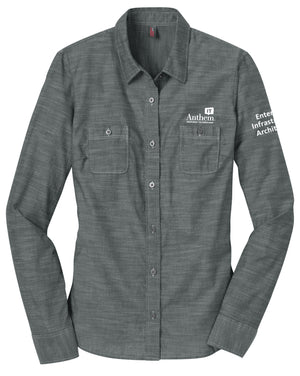 Ladies Port Authority Slub Chambray Shirt - EIA