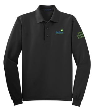 Men's Port Authority Silk Touch Long Sleeve Polo - EIA