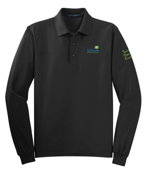 Men's Port Authority Silk Touch Long Sleeve Polo - TOC