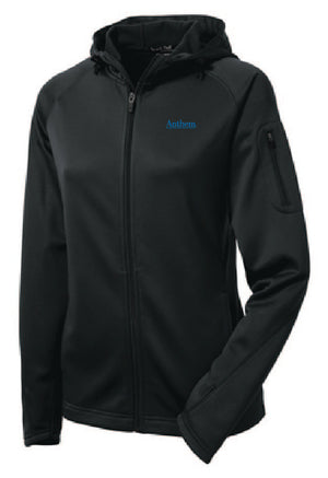 Sport-Tek® Ladies Tech Fleece Full-Zip Hooded Jacket