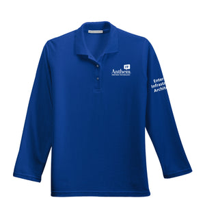 Ladies Port Authority Silk Touch Long Sleeve Polo - EIA