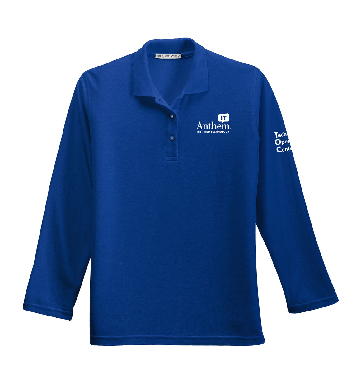 Ladies Port Authority Silk Touch Long Sleeve Polo - TOC