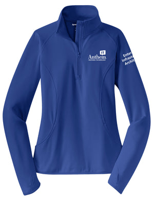 Ladies Sport-Tek Sport-Wick Stretch 1/2 Zip Pullover - EIA