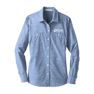 Ladies Port Authority Slub Chambray Shirt