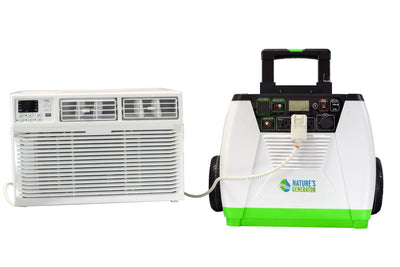 Can a Nature's Generator System help run your portable wall AC?