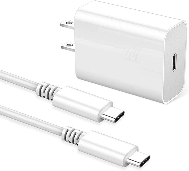 Huntkey USB C Charger, 27W 9V/2A 5V/3A Power Adapter