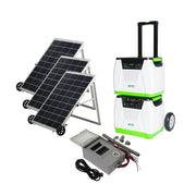Genex Solutions - Nature's Generator Platinum System - solar and wind rechargeable portable electric generator with power transfer kit and three 100W solar panels