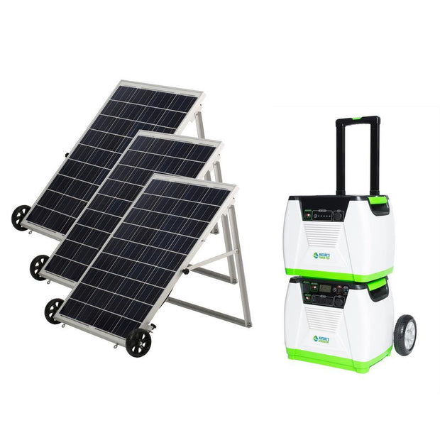 Genex Solutions - Nature's Generator Platinum System - solar and wind rechargeable portable electric generator