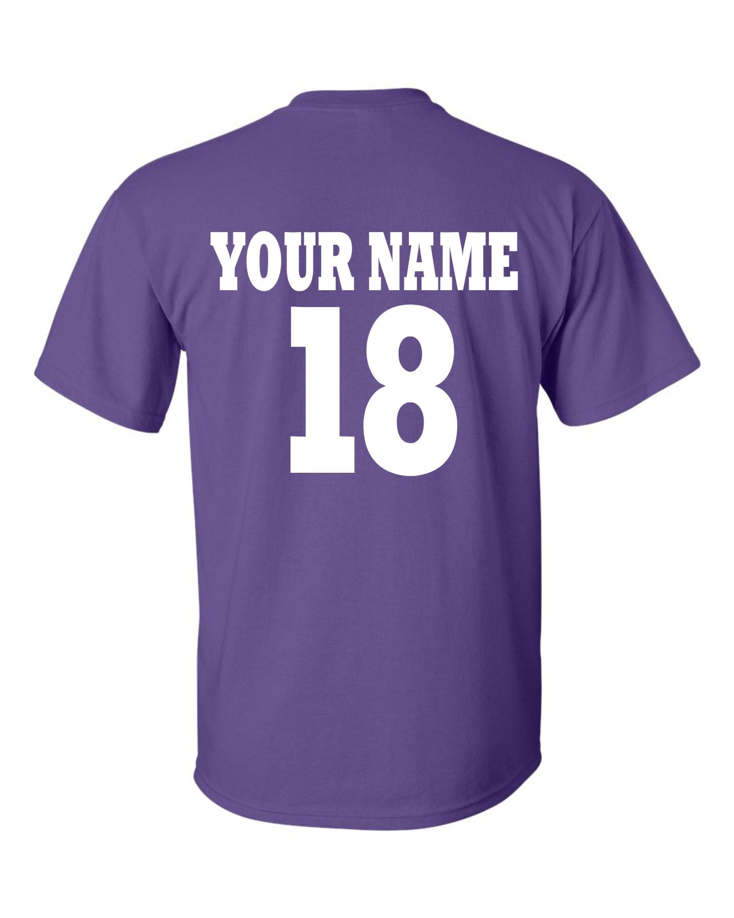 Custom Personalization Name & Number for Team Gear