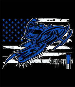 Sleddiction Patroit Blue
