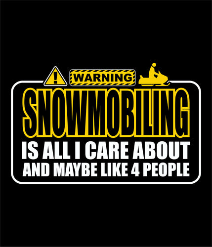 Warning Snowmobiling!! Yellow