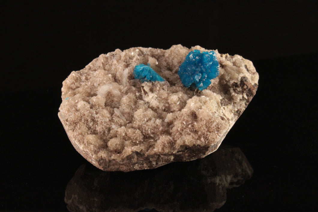 Cavansite on a Stilbite matrix