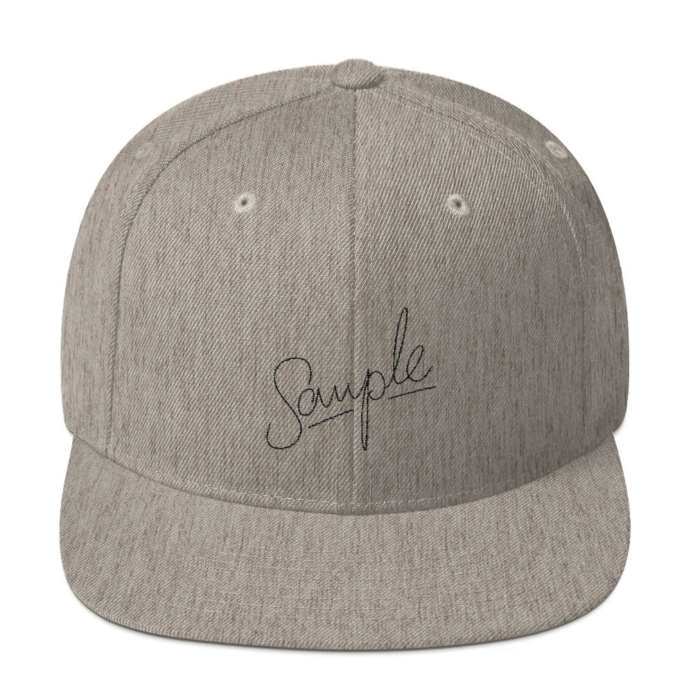 SAMPLE Light Snapback Hat
