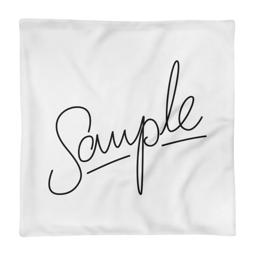 SAMPLE Light Square Pillow Case only