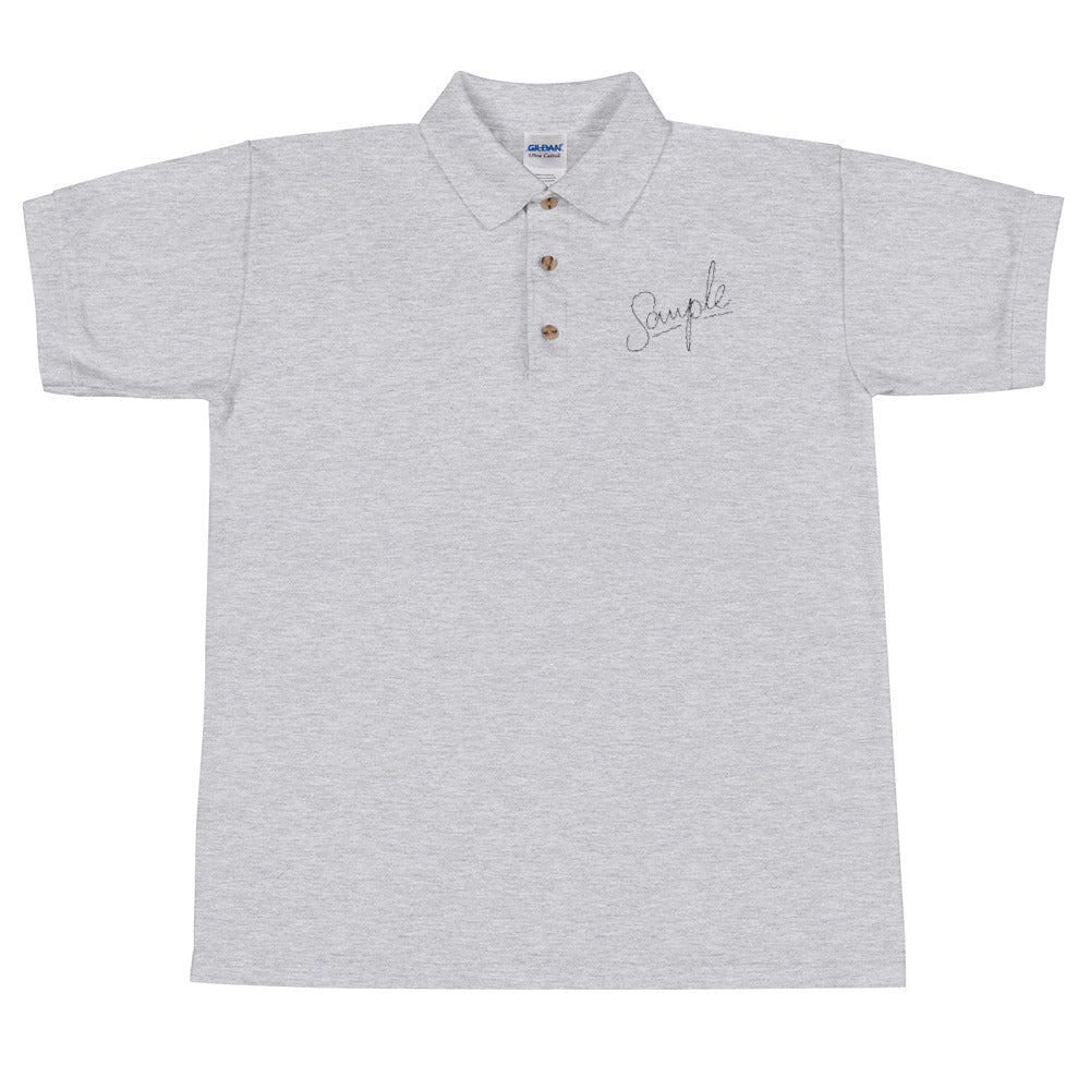 SAMPLE Light Embroidered Polo Shirt