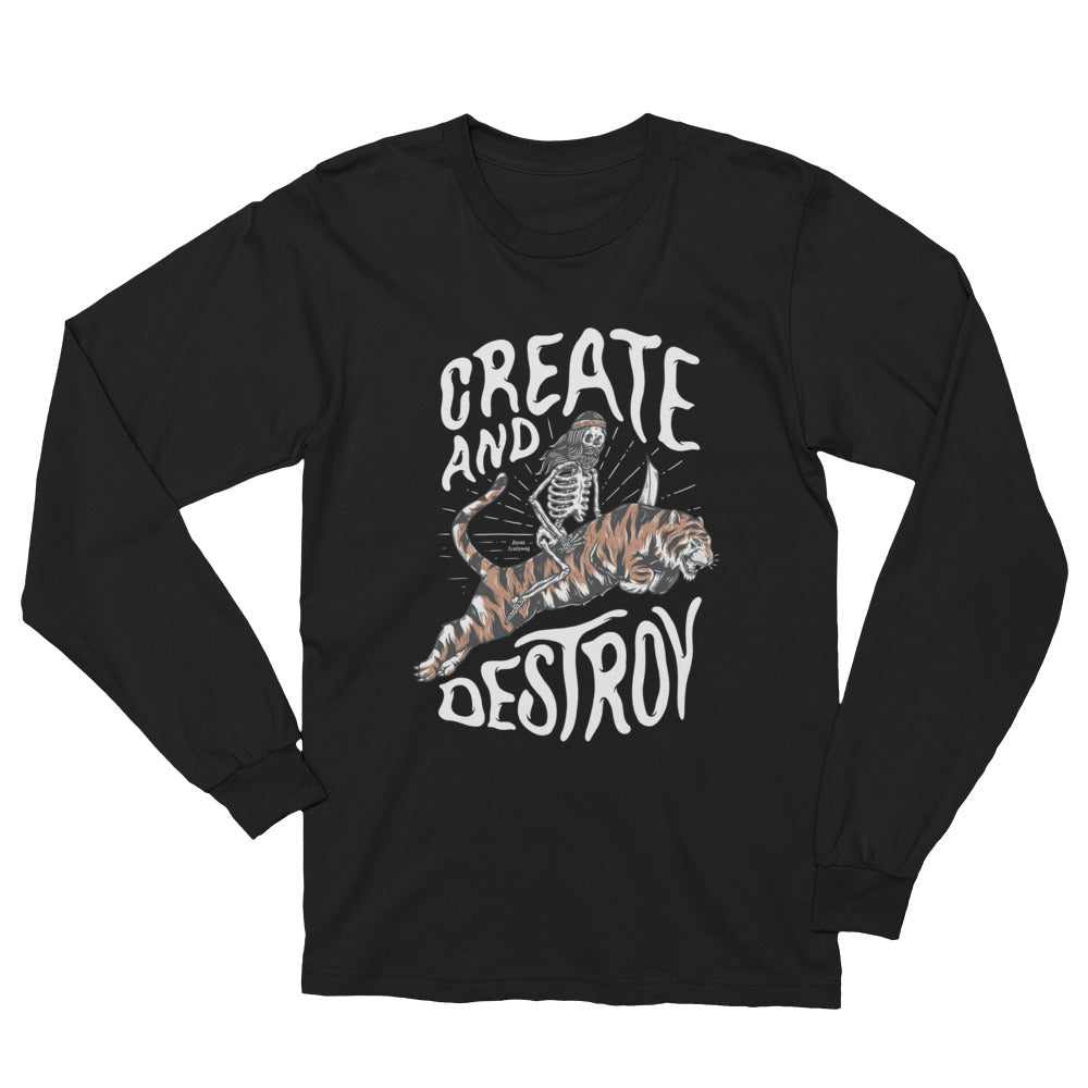 Bones Create Dark Unisex Long Sleeve T-Shirt