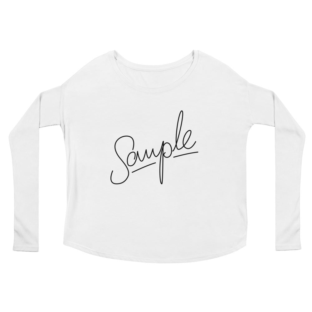SAMPLE Ladies' Long Sleeve Tee
