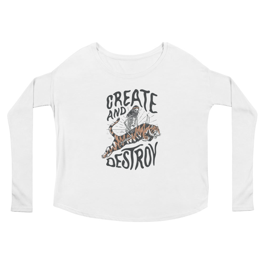 Bones Create Light Ladies' Long Sleeve Tee
