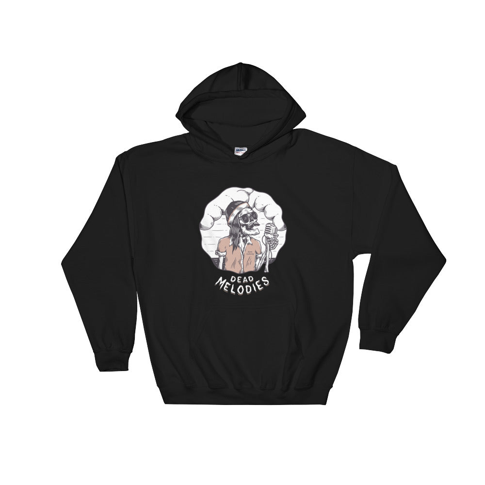 Bones Melodies Dark Hooded Sweatshirt