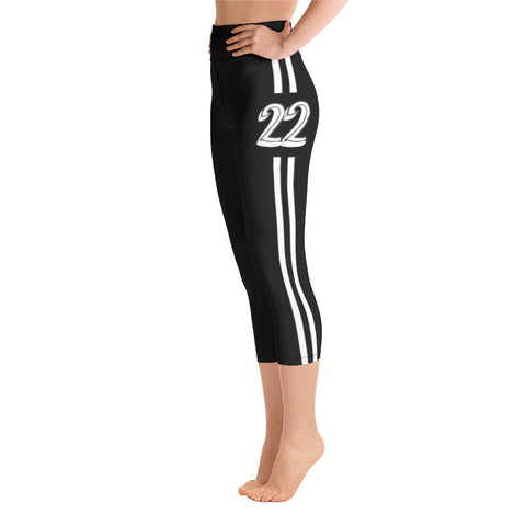 Return to Eden Yoga Capri Leggings--- 22 Black