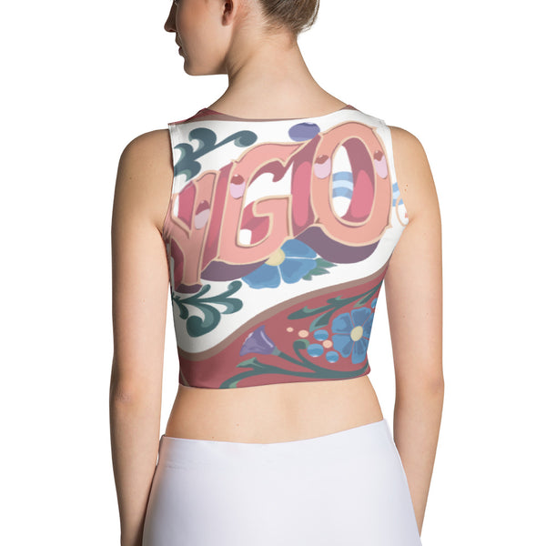 "22TANGO®.  Fashioned.  ""She Was Fashioned"" Crop Top---White"