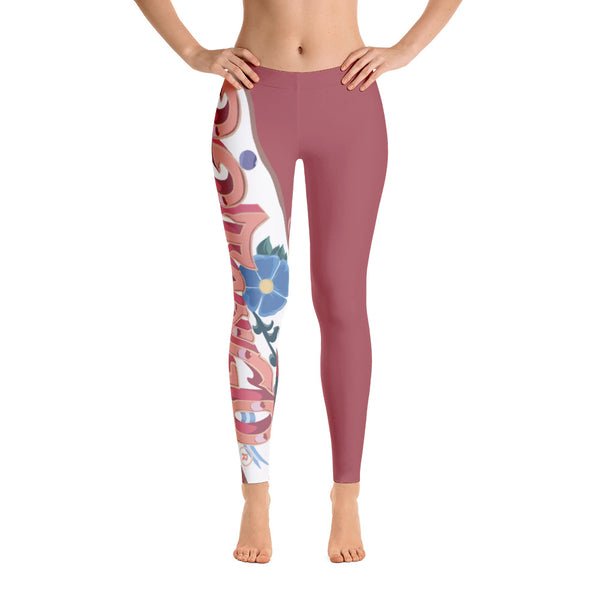 22TANGO®.  Fashioned.  We're On the Same Side Leggings---Tea Rose