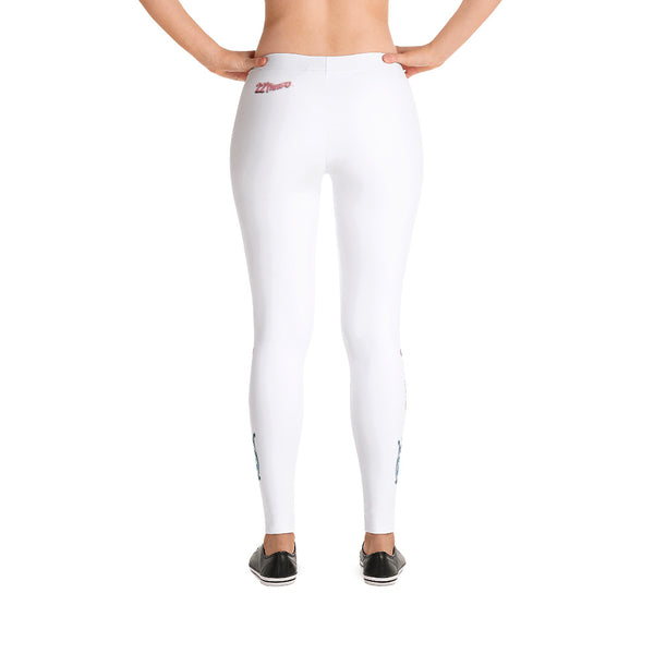 22TANGO®.  Fashioned.  La Flor Leggings---White