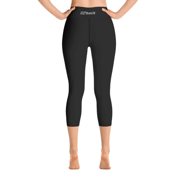 Return to Eden Yoga Capri Leggings---Black