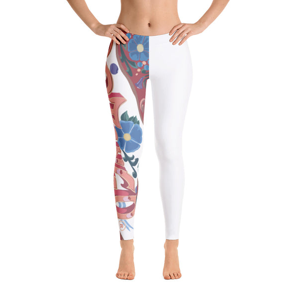 22TANGO®.  Fashioned.  We're On the Same Side Leggings---White