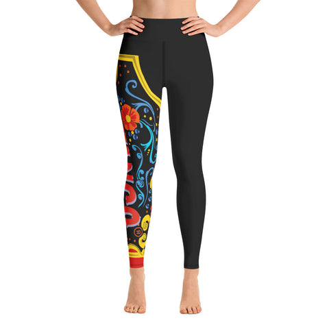 Celebration of Love Yoga Leggings---One Love in Black