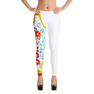 Celebration of Love Leggings---One Love in White