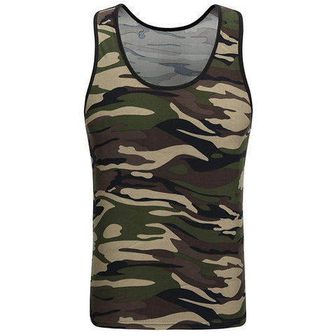 Men's Camouflage Training Tank Tops
