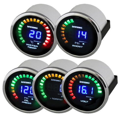 52mm Digital Dual Display Gauges - Water Temp