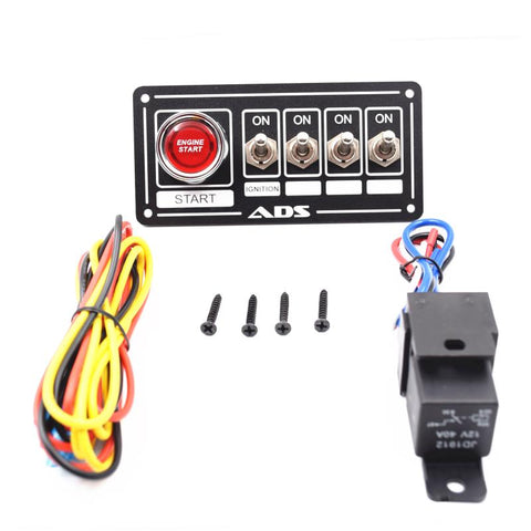 Switch Panel Race Car Ignition Accessory Engine Start and 4 switch