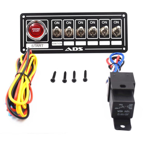 Switch Panel Race Car Ignition Accessory Engine Start and 6 switch
