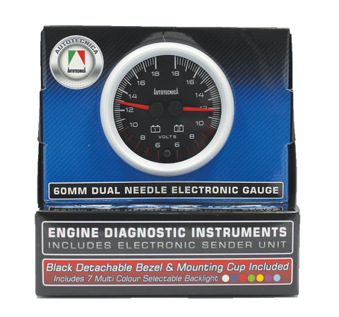 Dual Volt Gauge 60mm