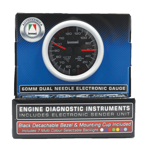 Dual Gauge Water Temp/Oil Pressure