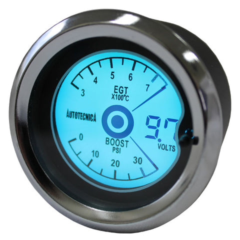 BOOST/EGT/VOLT 52MM LCD 3 IN ONE GAUGE
