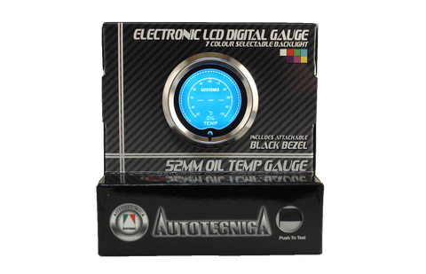Oil Temp Electronic LCD Digital Gauge (GLCOT)