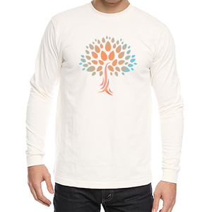 Unisex Organic Cotton Long Sleeve Tee with Wish Yielding Tree Design