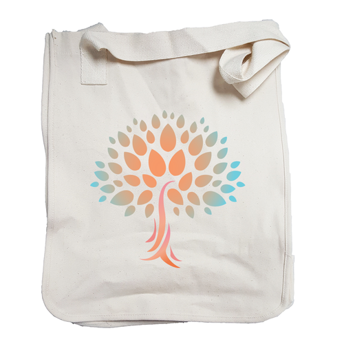 Market Tote Organic Cotton with Wish Yielding Tree Design